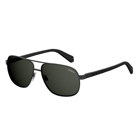 Óculos de Sol Polaroid 2059/S/60 Preto Fosco