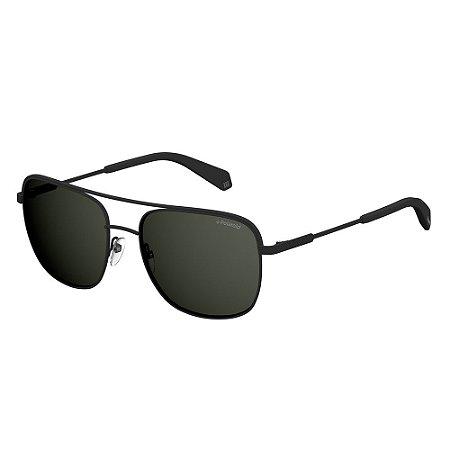 Óculos de Sol Polaroid 2056/S/58 Preto Fosco