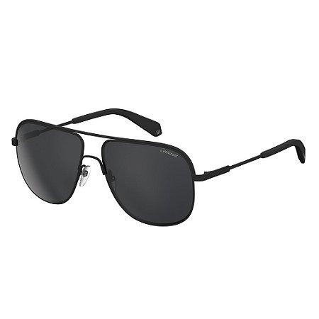 Óculos de Sol Polaroid 2055/S/59 Preto Fosco