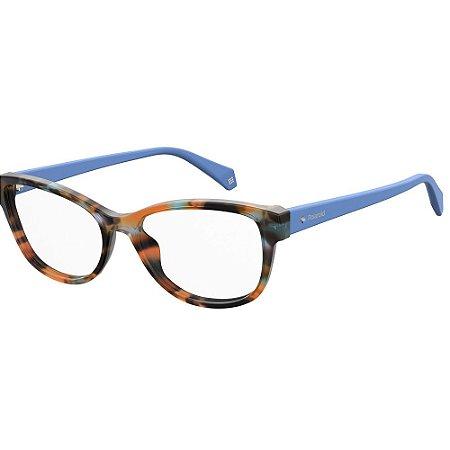 Óculos de Grau Polaroid D370/52 Azul Havana