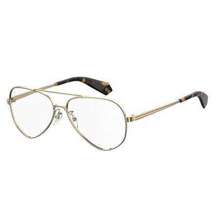 Óculos de Grau Polaroid D358/G/58 Branco/Dourado