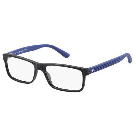 Óculos de Grau Tommy Hilfiger TH 1278/55 Preto/Azul