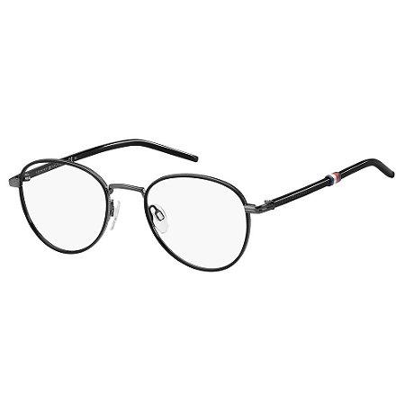 Óculos de Grau Tommy Hilfiger TH 1687/50 Cinza/Preto