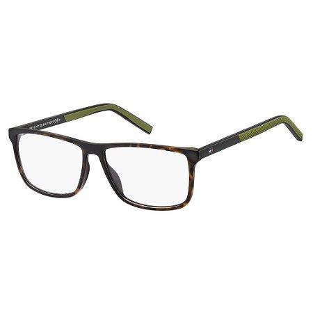 Óculos de Grau Tommy Hilfiger TH 1696/55 Havana Fosco