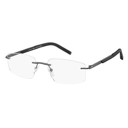 Óculos de Grau Tommy Hilfiger TH 1691/56 Cinza/Preto