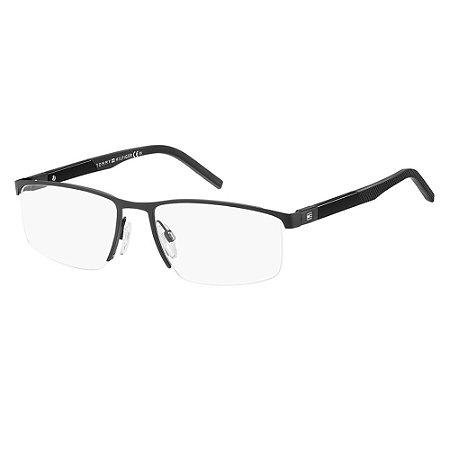 Óculos de Grau Tommy Hilfiger TH 1640/54 Preto Fosco