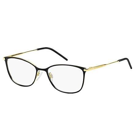 Óculos de Grau Tommy Hilfiger TH 1637/53 Preto/Dourado