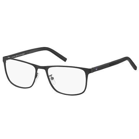 Óculos de Grau Tommy Hilfiger TH 1576/F/57 Preto Fosco