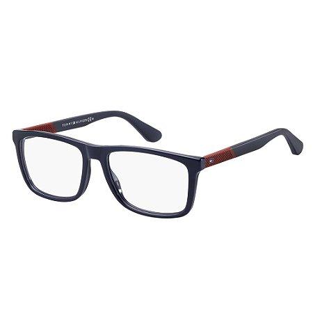 Óculos de Grau Tommy Hilfiger TH 1561/55 Azul Escuro