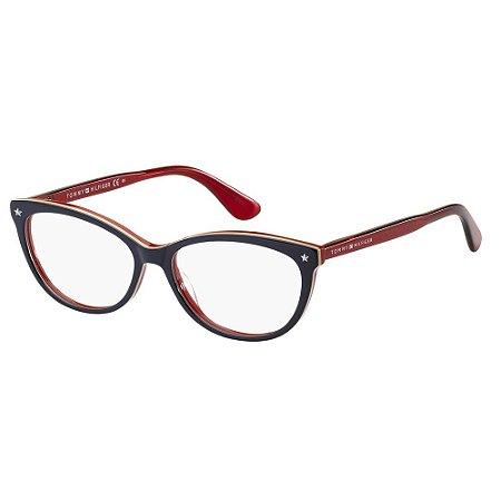 Óculos de Grau Tommy Hilfiger TH 1553/53 Azul/Multi