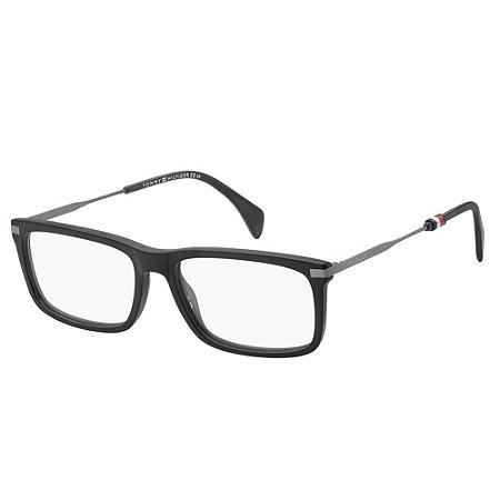 Óculos de Grau Tommy Hilfiger TH 1538/55 Preto Fosco