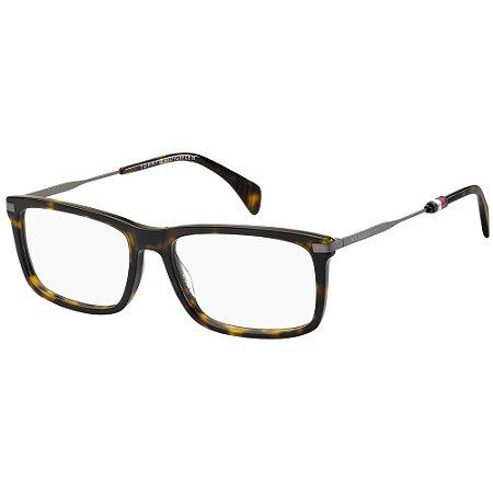 Óculos de Grau Tommy Hilfiger TH 1538 -  55 - Marrom