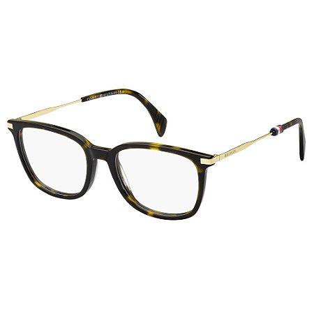 Óculos de Grau Tommy Hilfiger TH 1558 -  51 - Marrom