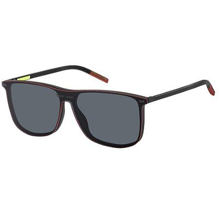 Óculos de Sol Tommy Hilfiger Jeans TJ 0017/Cs - 58 - Preto - Clip-on