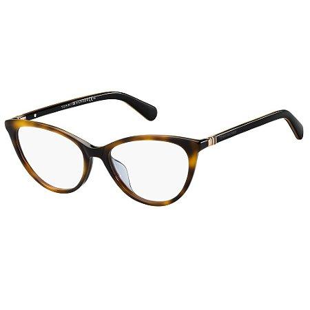 Óculos de Grau Tommy Hilfiger TH 1775 -  52 - Marrom