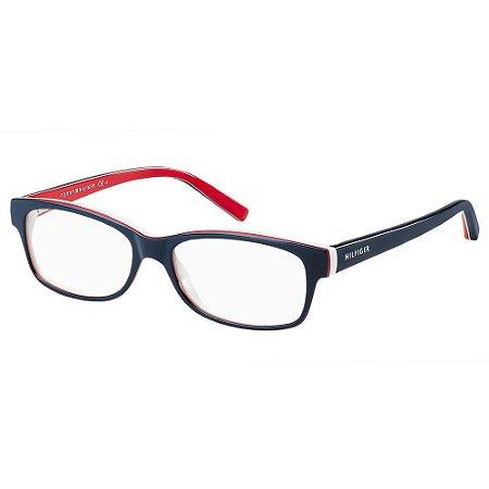 Óculos de Grau Tommy Hilfiger TH 1018 -  52 - Azul