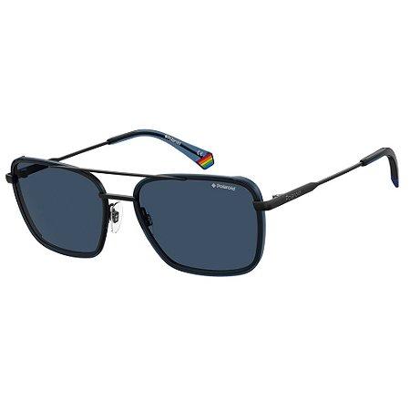 Óculos de Sol Polaroid Pld 6115/S  56 - Azul - Polarizado