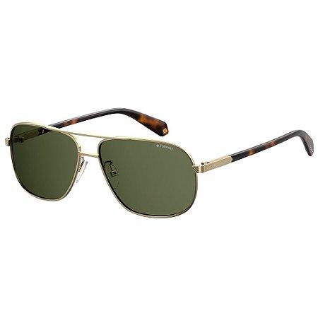 Óculos de Sol Polaroid Pld 2074/S/X -  60 - Dourado