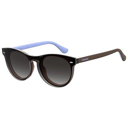 Óculos de Sol Havaianas Eva/Cs -  50 - Marrom - Clip-on