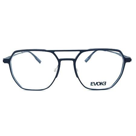 Armação de Óculos Evoke EVK RX31 09B - 55 - Preto