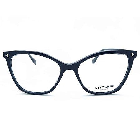 Armação de Óculos Atitude AT7152 A01 - 54 - Preto