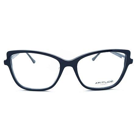 Armação de Óculos Atitude AT7148 A01 - 55 - Preto
