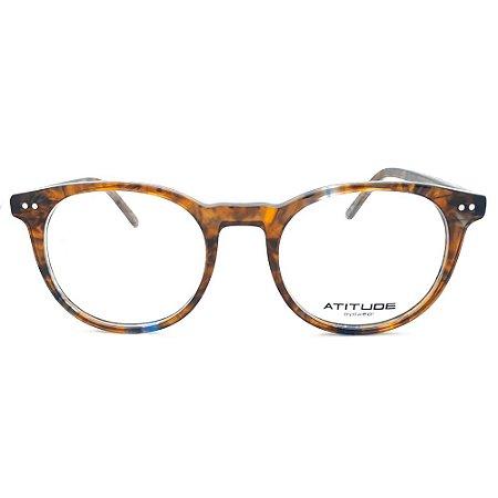 Armação de Óculos Atitude AT7146 G21 - 49 - Marrom