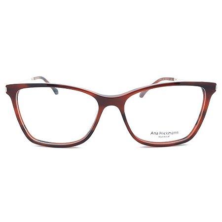 Armação de Óculos Ana Hickmann AH6387 G22 - 55 - Vermelho