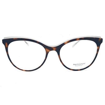 Armação de Óculos Ana Hickmann AH6386 H01 - 53 - Marrom