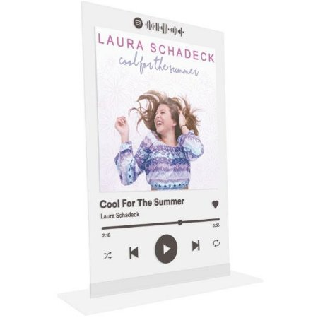 "Placa Acrílica Spotify - ""Cool For The Summer"""