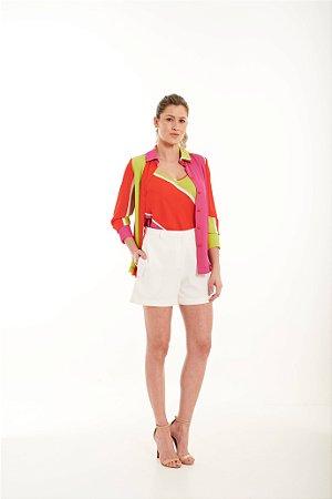 Camisa Feminina Mariana Estampada em Crepe