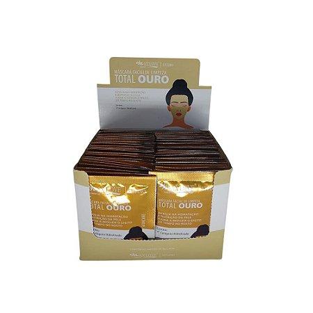 Máscara Facial Peel Off Total Ouro Max Love – Box c/ 60 unid