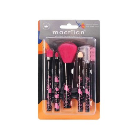 Kit com 5 Pincéis para Maquiagem Macrilan KP5-35