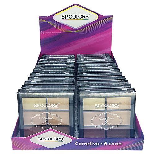 Paleta de Corretivo 6 Cores SP Colors SP129 – Box c/ 24 unid