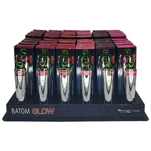 Batom Glow Vegano Max Love - Box c/ 48 unid