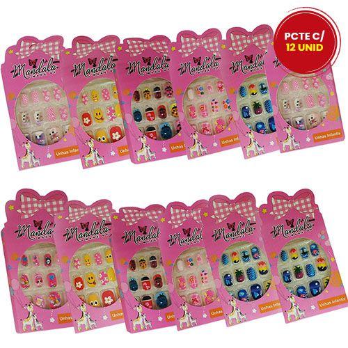 Unhas Postiças Infantil Mandala UN-206 - Pacote c/ 12 caixas