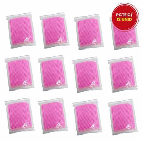 Microbrush Cotonete Alongamento Fio a Fio Cílios 100 unidades DF-3101 - Pcte c/ 12 unid