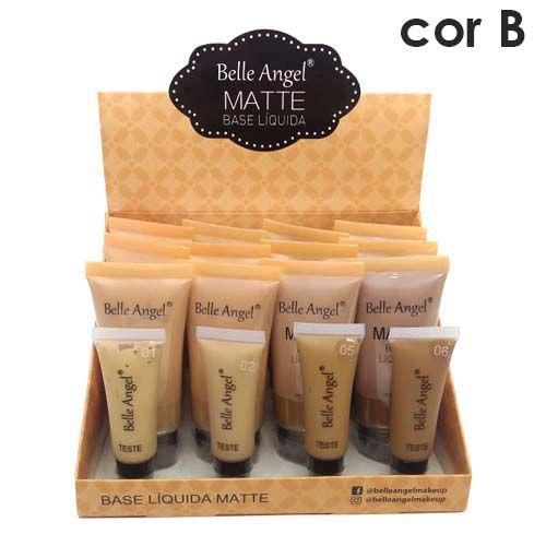 Base Líquida Matte Belle Angel B060 Cor B - Box c/12 unid
