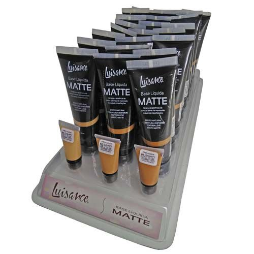 Base Líquida Matte Luisance L5001 Cor A 01 ao 03 – Box c/ 24 unid