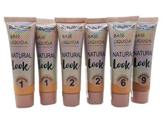 Base Liquida Natural Look Chocolate Group 3 Ruby Rose HB-8051 - Kit c/ 06 unid