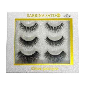 Cílios Postiços 5D-F016 Sabrina Sato - SS-724 - Caixa c/ 03 pares