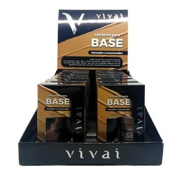 Corretivo Para Base Clareador e Escurecedor Vivai 1008 – Box c/ 12 unid