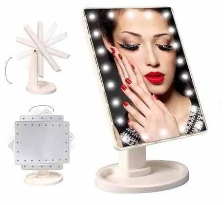 Espelho de mesa com Luz de Led para Maquiagem XR-1608 / XT-0206