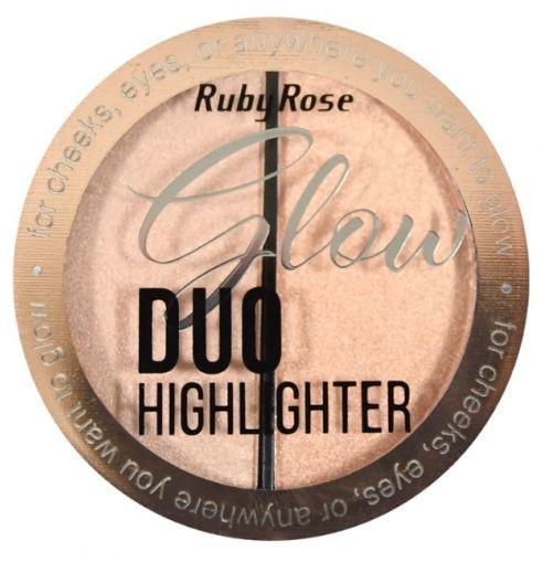 Iluminador Glow Duo Highlighter Ruby Rose HB-7522 - Box c/ 36 unid