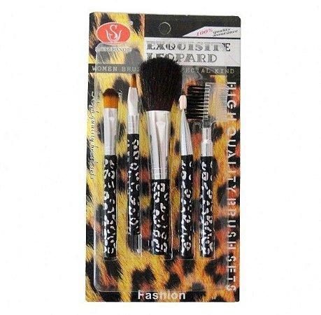 Kit com 05 Pincéis para Maquiagem Makeup - HS86413