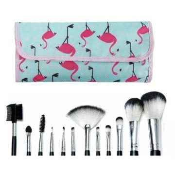 Kit Com 12 Pinceis Macrilan Para Maquiagem KP1-5B
