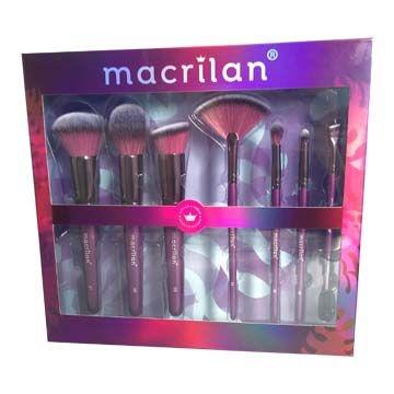 Kit com 7 Pincéis para Maquiagem Violet Macrilan ED005