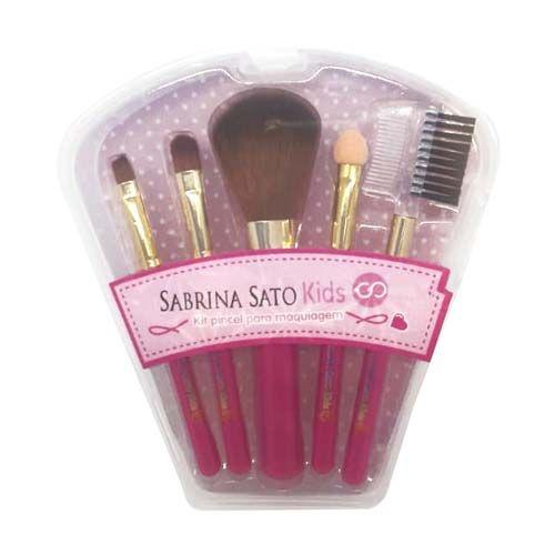 Kit de Pincéis Para Maquiagem Infantil Sabrina Sato SS-749