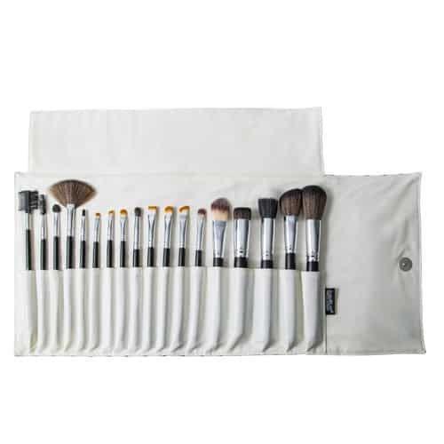 Kit de Pincéis Profissionais para Maquiagem Macrilan c/ 18 Pincéis KP3-8A