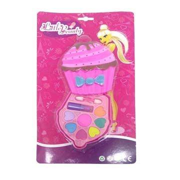Kit Maquiagem para Boneca Little Beauty CupCake BAR-12414M